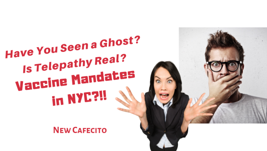 Have You Seen a Ghost? Is Telepathy Real? Vaccine Mandates in NYC?